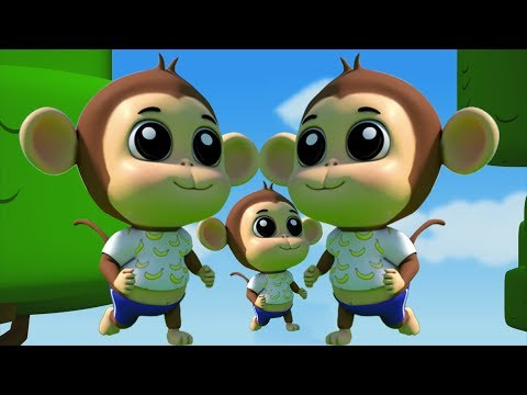Fünf kleine Affen | Lied für Kinder | Nursery Rhymes For Kids | Kids Songs | Five Little Monkeys