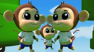 Fünf kleine Affen | Lied für Kinder | Nursery Rhymes For Kids | Kids Songs | Five Little Monkeys