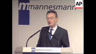 GERMANY: VODAFONE/MANNESMANN MERGER LATEST