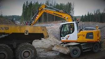 Liebherr A 914 -kaivinkone Jyväskylässä