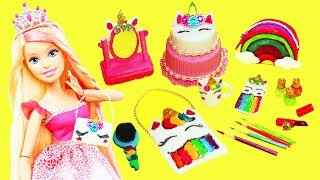 10 DIY Miniature UNICORN  Barbie DOLL CRAFTS  & Accessories  #2 - simplekidscrafts