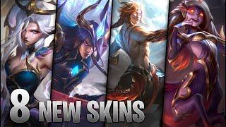 8 NEW NIGHTBRINGER & DAWNBRINGER SKINS - Yone Kayn Morgana Lillia Tryndamere Vex - League of Legends