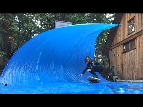 Tarp surfing (massive barrels)
