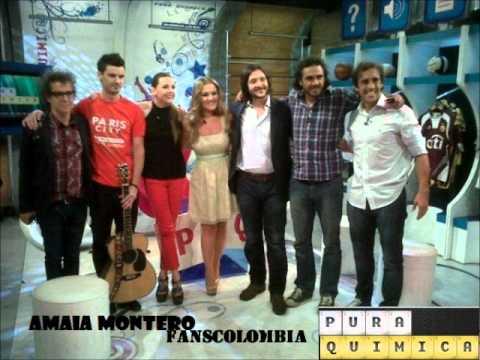 Amaia Montero en el programa Pura Quimica
