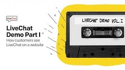 LiveChat Demo Part I: How customers see LiveChat on a website