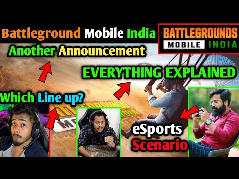 BATTLEGROUND MOBILE INDIA - Launch Date, Pre-registration, eSports, Gamers Reaction, Teams EXPLAINED