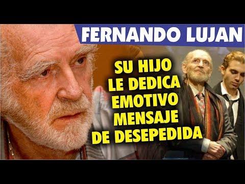 Con emotivo Mensaje hijo de Fernando Lujan se despide de su padre