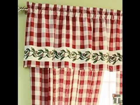 Country kitchen curtains YouTube