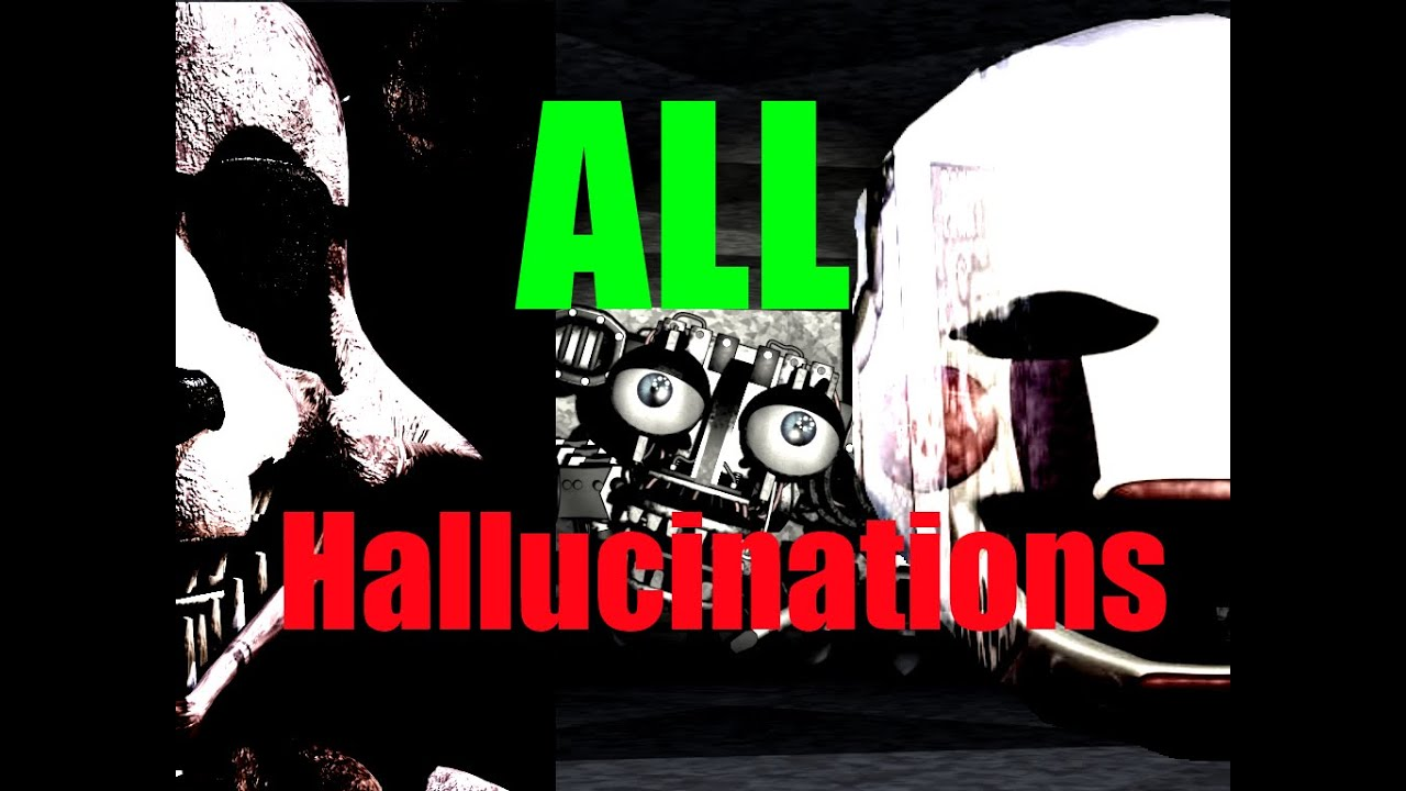 ALL HALLUCINATIONS/HIDDEN CHARACTERS (Five Nights at ...