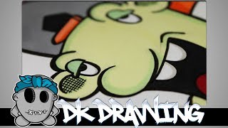 Graffiti Tutorial for beginners - How to draw a graffiti character #5