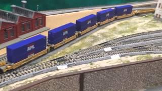 C44-9W Hauling Intermodal Rail Cars