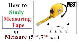 How to study Measuring tape or Measure decimal value in Urdu/Hindi
