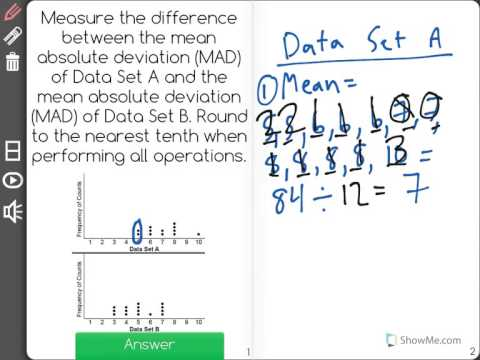 [7.SP.3-2.0] Assessing Data Overlap - Common Core Standard