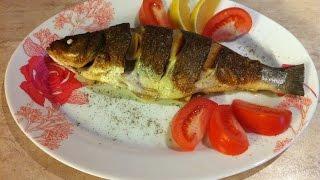 Рыба СИБАС на сковороде. Мамулины рецепты.