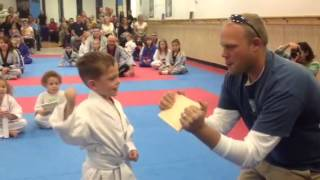 4 year old Martial Artist breaking Warwick NY