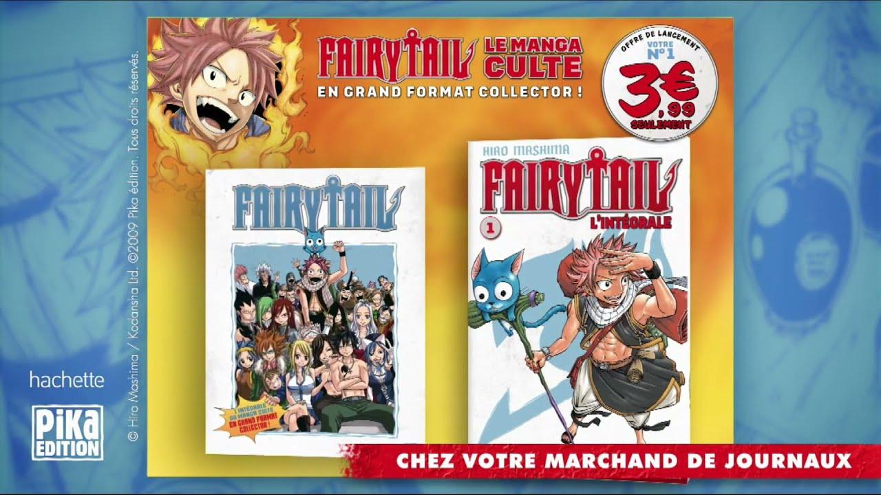 """Musique de la pub Fairytail n°1 le manga culte Hachette """"chez votre marchand de journaux"""" Pub 18s Juillet 2021"""