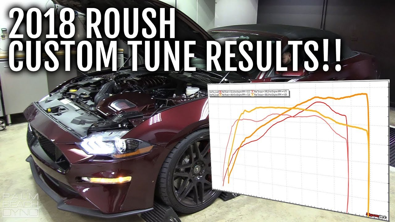 Roush Supercharged 2018 Mustang Gt On The Dyno For A Custom Tune Youtube