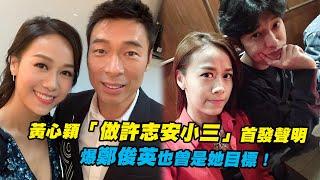 黃心穎「做許志安小三」首發聲明 爆鄭俊英也曾是她目標!