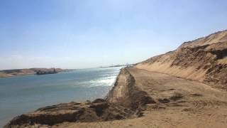 The first appearance of the new Suez Canal Baldftin southern Bmdkhalha stunning scenery