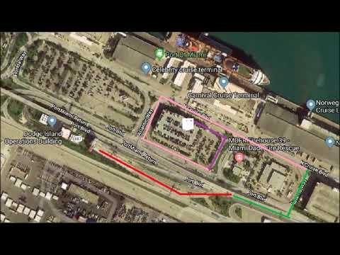 Drive To Terminal D Parking Garage For Carnival Victory, Port Of Miami
