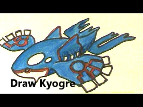 Kyogre draw this legendary pokemon no 382 a so so tutorial youtube