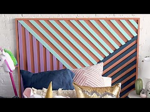 Make This Colorful, Modern Headboard - DIY Network - YouTube