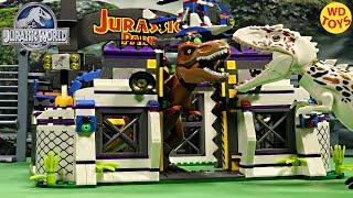 Nieuwe Lego-Compatibele Alien Tyrannosaurus Rex Te Ontsnappen Snelheid Op Te Bouwen Stop Motion Unboxing