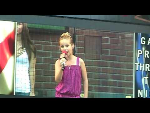 Laurel Freeman, age 11, National Anthem Chase Fiel...