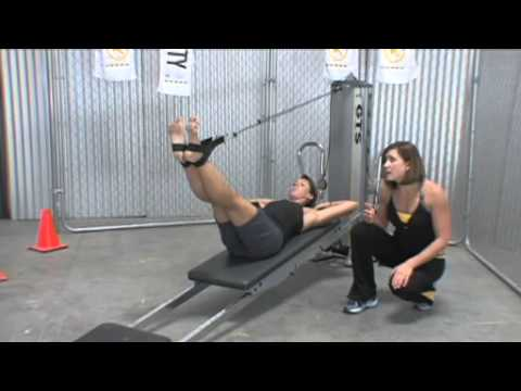 total gym workout matwork  extending leg pulley  youtube
