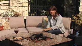 Meridian Classic All Weather Wicker Conversation Set With Granite Fire Pit - Product Review Video
