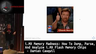 #HITB2019AMS D1T3 - How To Dump, Parse, And Analyze i.MX Flash Memory Chips - Damien Cauquil