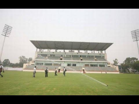 beautiful view in delhi university stadium
