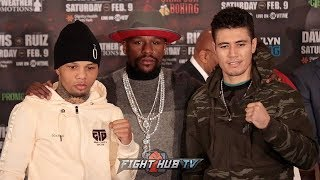 GERVONTA TANK DAVIS VS. HUGO RUIZ - FULL PRESS CONFERENCE VIDEO & FACE OFF W/FLOYD MAYWEATHER