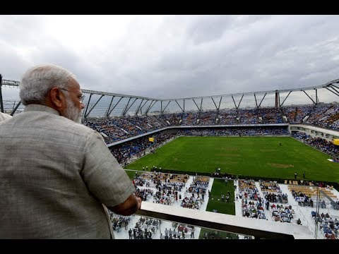 "PM Modi Inaugurates ""Arena Project"" by TransStadia in Ahmedabad, Gujarat"