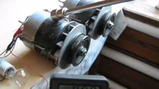Тестирование 2-е генератора для самодельного ветрогенератора.