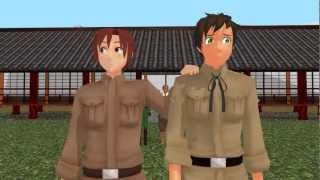 [MMDxAPH] Romano and Spain's Awesome and Terrible Power!