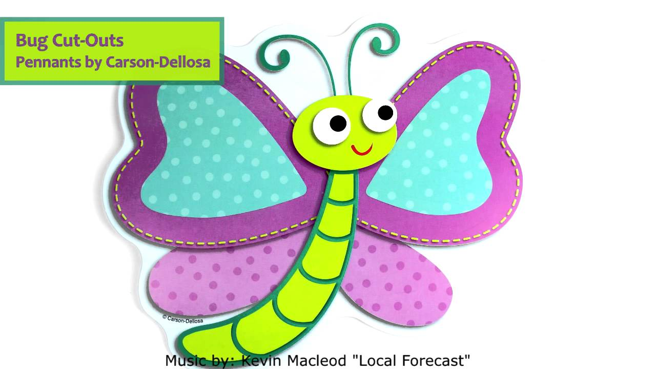 Bug Cut-Out Pennants by Carson-Dellosa CD120139 - YouTube