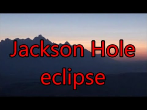 Jackson Hole eclipse over the Teton Range.