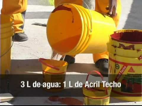 Como impermeabilizar techos acril techo sika youtube for Productos sika para piscinas