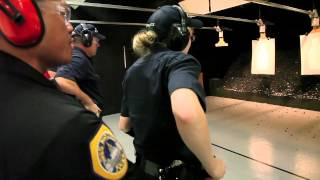 Des Moines police recruits: firearm training