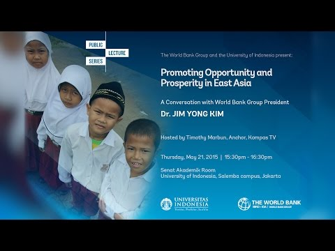 Public Lecture World Bank Group President
