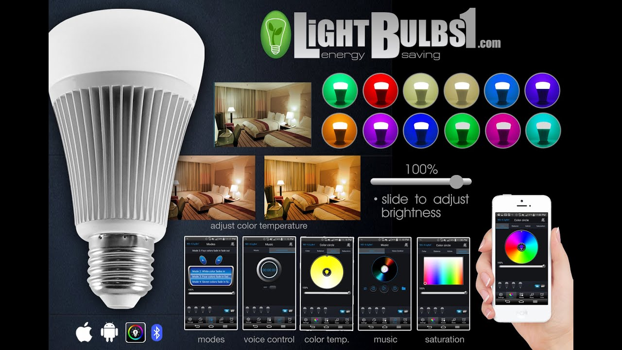 Bluetooth LED Light Bulb APP Control Color Change
