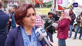 تشييع جثمان الصحفي أحمد أبوحسين الذي ارتقى عقب مسيرة العودة في غزة - (26-4-2018)