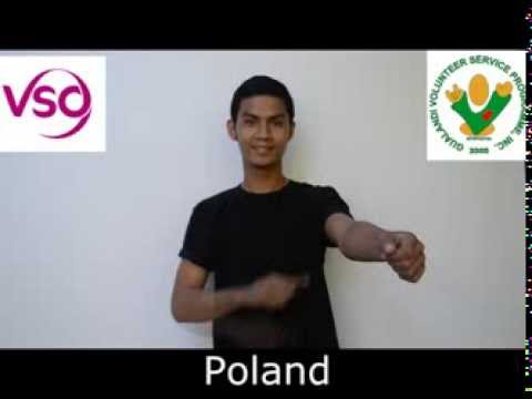 Filipino Sign Language dictionary- European Countries