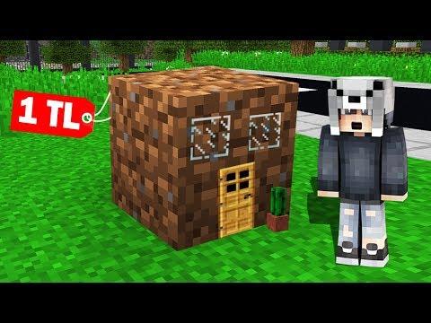 EN KÜÇÜK 1 TL'lik FAKİR GİZLİ GEÇİT BULUNDU! 😱 - Minecraft