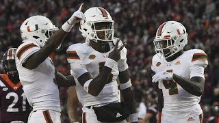 Miami Hurricanes Highlights @ Virginia Tech