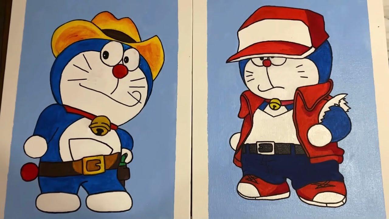 Vẽ Doraemon Siêu Ngầu | Painting Doraemon #Shorts