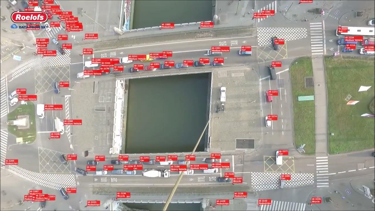 Анализ транспортных и пассажирских потоков с привязного БПЛА.