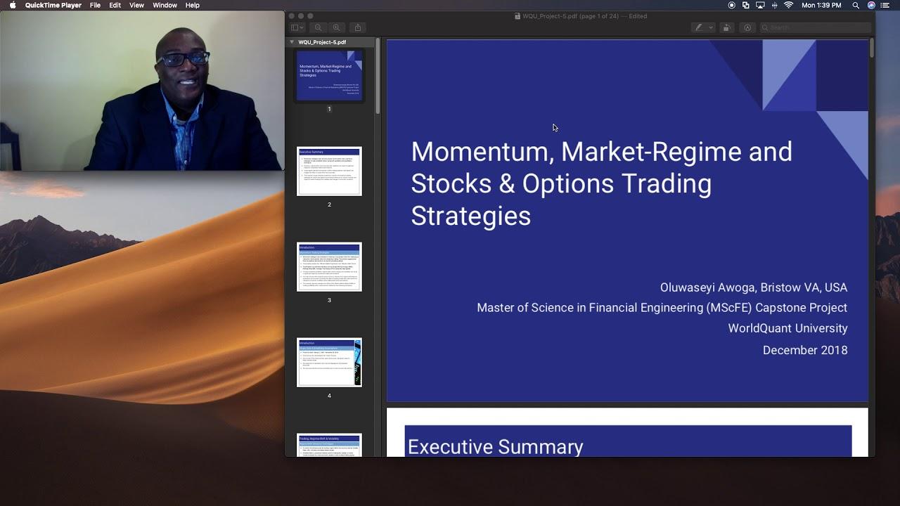 Testing – Momentum, Market Regime and Stocks & Options Trading Strategies #Regime