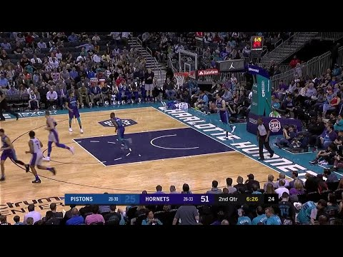 2nd Quarter, One Box Video: Charlotte Hornets vs. Detroit Pistons